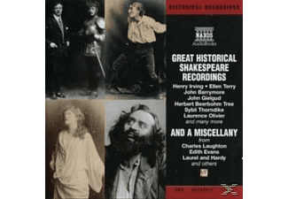 GREAT HISTORICAL SHAKESPEARE RECORDINGS - 2 CD -
