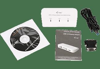 I-TEC U3DUALADA US Video Display Adapter, Weiß