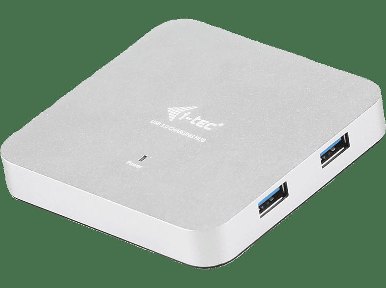 I-TEC U3HUBMETAL4, USB 3.0 HUB, Silber