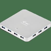 I-TEC U3HUBMETAL10, USB Hub, Silber