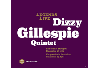 Dizzy Quintet Gillespie - Legends Live - Liederhalle Stuttgart November 27, 1961 - Kongresshalle Frankfurt November 29, 1961 - (CD)