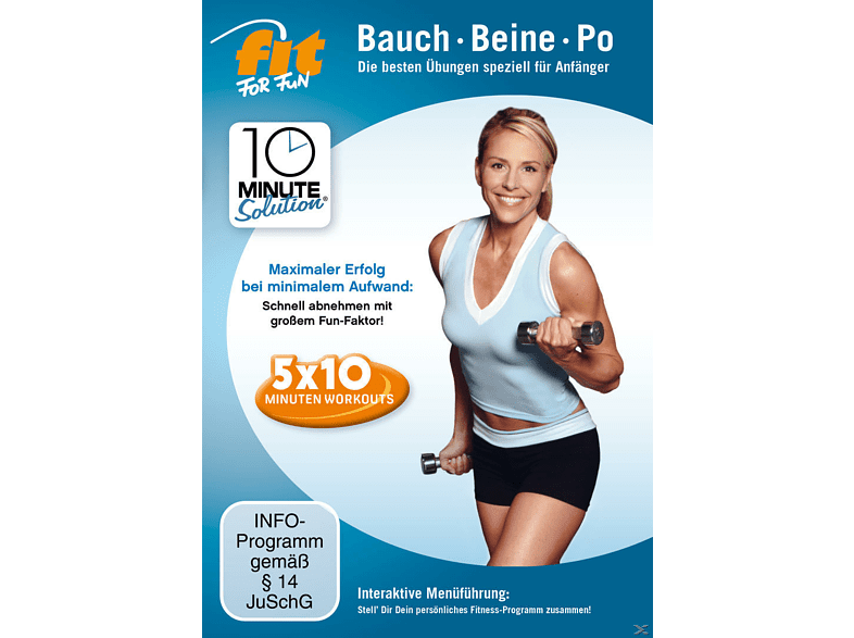 Fit For Fun - 10 Minute Solution: Bauch, Beine Po für Anfänger [DVD]