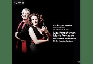 Liza Ferschtman, Mario Venzago, Netherlands Ph, Ferschtman,Liza/Venzago,Mario/Netherlands PH - Violin Concerto-An American In Pa  - (SACD Hybrid)
