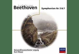 Gewandhausorchester, Kurt/gol Masur - Sinfonien 5 & 7  - (CD)