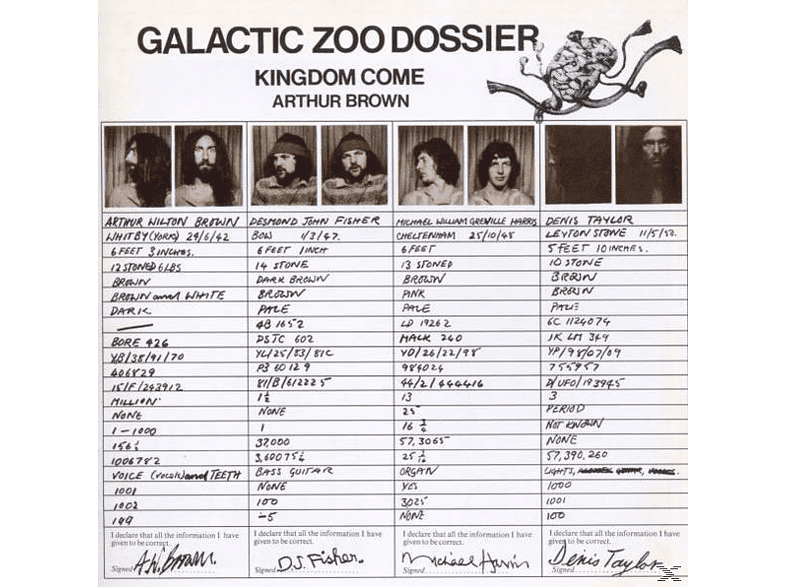 Arthur & Kindom Co Brown - Galactic Zoo Dossier (Exp.+Remastered) [CD]