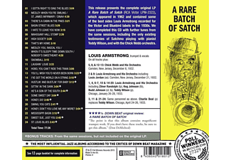 Chick Web and His Orchestra, Zilner Randolph, Keg Johnson, Luis Jordan, Charlie Beal, Louis & His Orchestra Armstrong, Teddy Wilson, Budd Johnson - A Rare Batch Of Satch  - (CD)