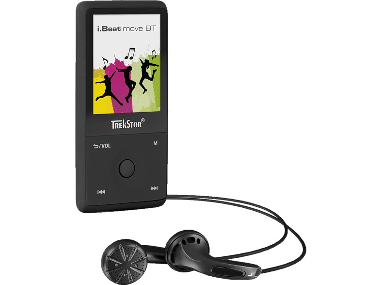 TREKSTOR 79324 i.Beat move BT Mp3-Player (8 GB, Schwarz)