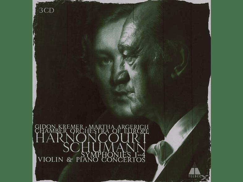 Nikolaus Harnoncourt, Cgo, Kremer, Argerich - Sämtliche Sinfonien 1-4 (Ga)/Klavierkon./Viol.Kon. [CD]