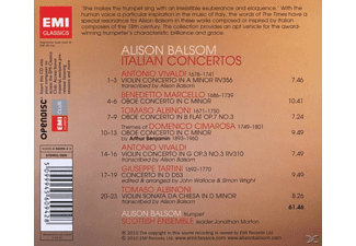 Alison Balsom, The Scottish Ensemble - Italian Concertos  - (CD)