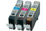 CANON CLI-521C/M/Y Tintenpatrone Multipack mehrfarbig (2934B007)
