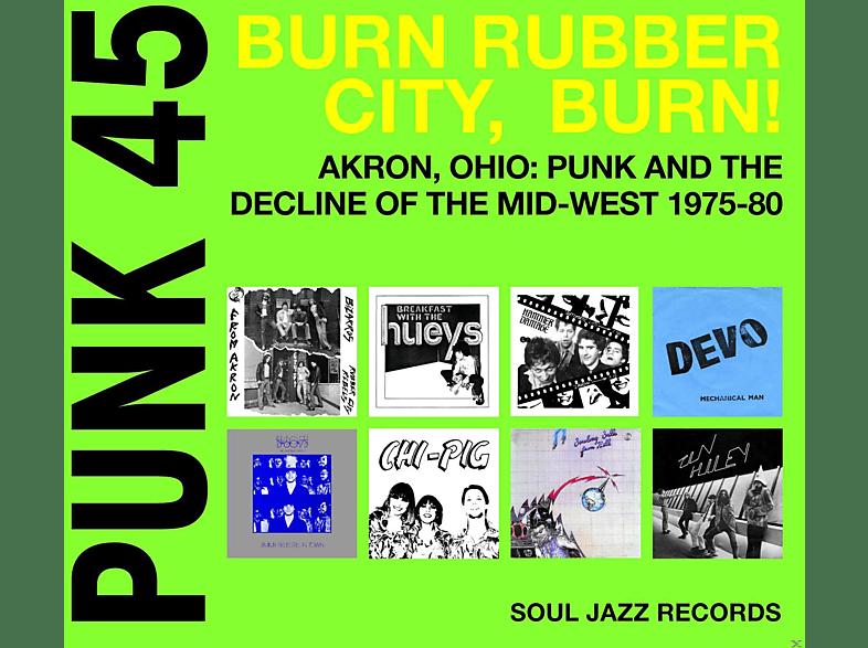 VARIOUS - Punk 45:Burn Rubber City, Burn! [CD]