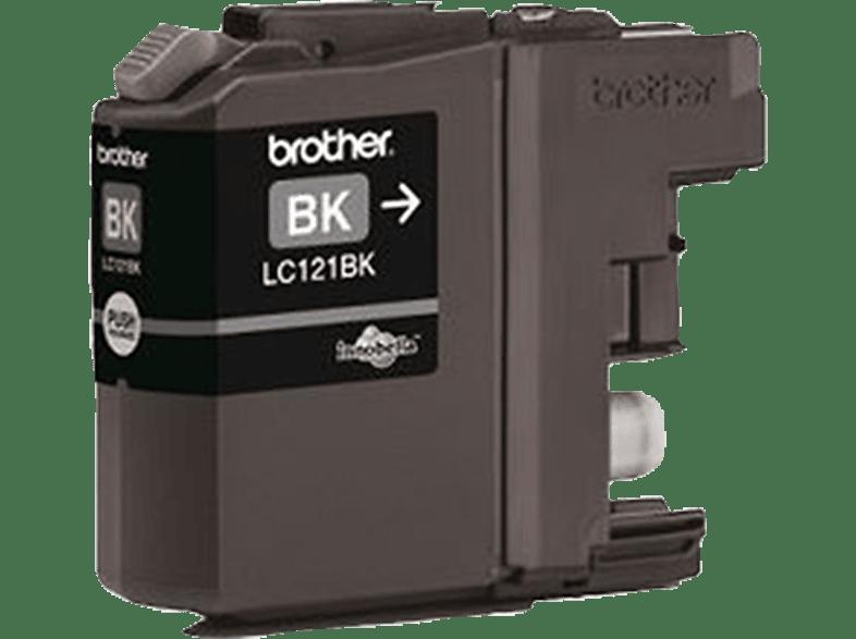 BROTHER Original Tintenpatrone Schwarz (LC-121BK)