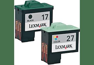 LEXMARK Nr. 17 + Nr. 27 Tintenpatrone mehrfarbig (0080D2952)
