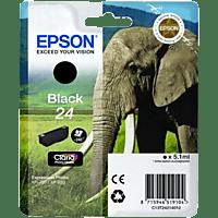 EPSON Original Tintenpatrone Elefant Schwarz (C13T24214010)