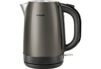 PHILIPS HD9322/81 Wasserkocher, Schwarz/Silber