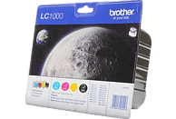 BROTHER LC-1000 Tintenpatrone Value Pack mehrfarbig (LC-1000VALBPDR)
