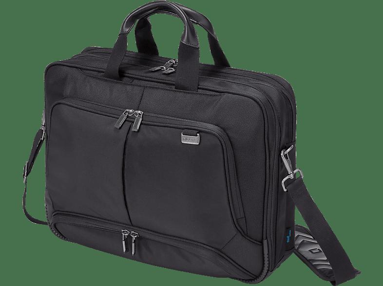 DICOTA D30845 Top Traveller Pro Notebooktasche, Umhängetasche, 17.3 Zoll, Schwarz
