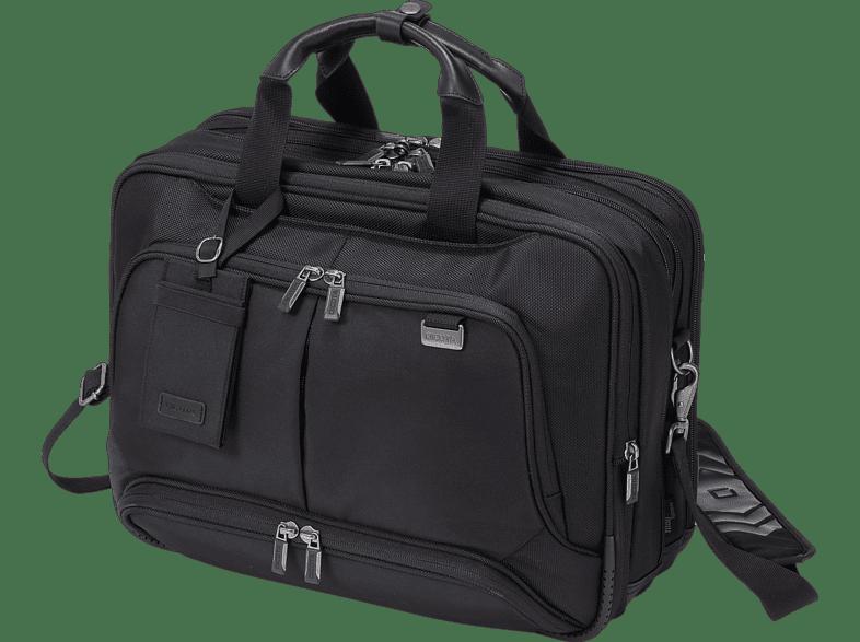 DICOTA D30844 Top Traveller Twin Notebooktasche, Umhängetasche, 15.6 Zoll, Schwarz