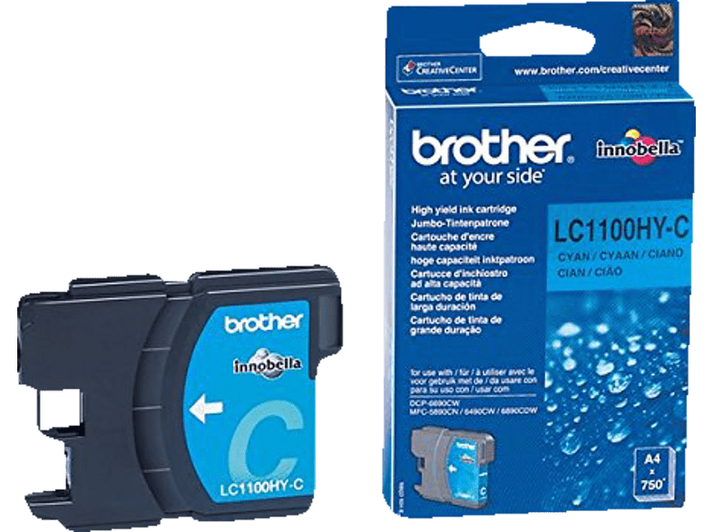 BROTHER Original Tintenpatrone Cyan (LC-1100HYC)