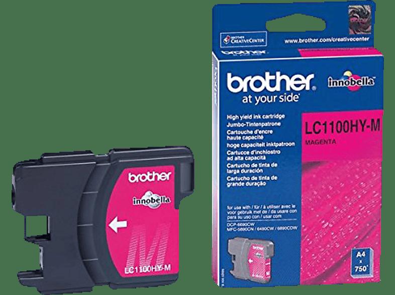 BROTHER Original Tintenpatrone Magenta (LC-1100HYM)