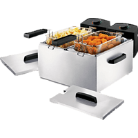 PRINCESS 183123 Double Fryer Fritteuse  1800 Watt Edelstahl/Schwarz