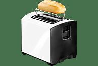 PRINCESS 142650 Toaster Weiß/Schwarz (950 Watt, Schlitze: 2)