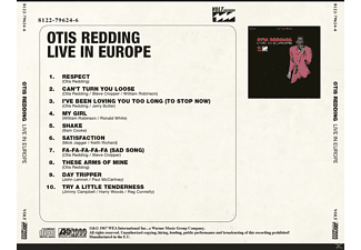 Otis Redding - Live In Europe  - (CD)