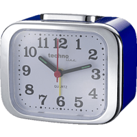 TECHNOLINE  Technoline Quarzwecker Modell XL, blau, analog, nachtleuchtende Zeiger  Quarzuhr