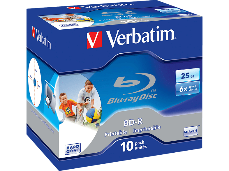 VERBATIM 43713 BD-R Single 6X 25GB Rohling
