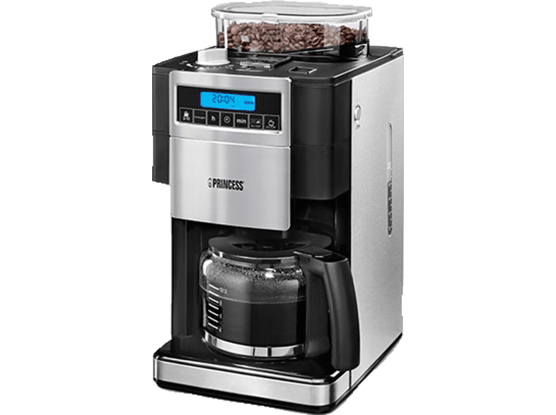 PRINCESS 249402 Deluxe Kaffeemaschine Silber/Schwarz