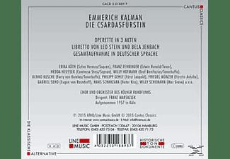 VARIOUS, Chor Und Orchester Des Kölner Rundfunks - Die Csardasfürstin  - (CD)