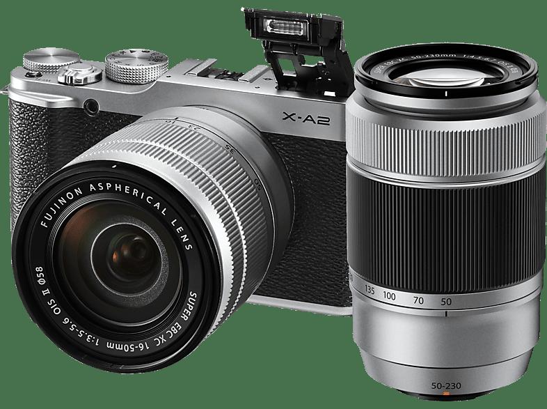 FUJIFILM X-A2 Systemkamera 16.3 Megapixel mit Objektiv 16-50 mm, 50-230 mm , 7.6 cm Display  , WLAN
