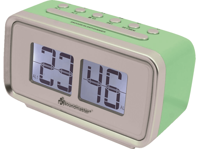 SOUNDMASTER UR105GR Radio-Wecker (PLL Tuner, UKW, Grün/Grau)