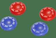SNAKEBYTE PS4 Controller Aufsätze, Caps, Rot/Blau