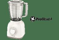 PHILIPS HR 2100/00 Daily Collection Standmixer Weiß/Beige (400 Watt, 1.25 l)