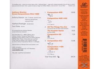 Anthony Braxton - SEVEN COMPOSITIONS (TRIO) 1989  - (CD)