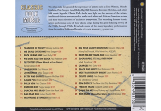 VARIOUS - Classic Folk Music From Smithsonian  - (CD)