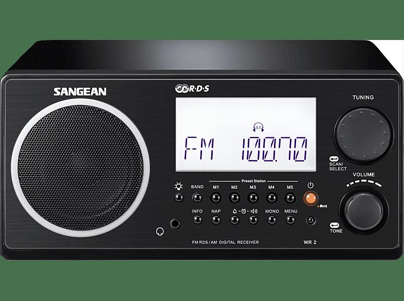 SANGEAN WR-2 Radio (FM, MW, LW, UKW, Schwarz)