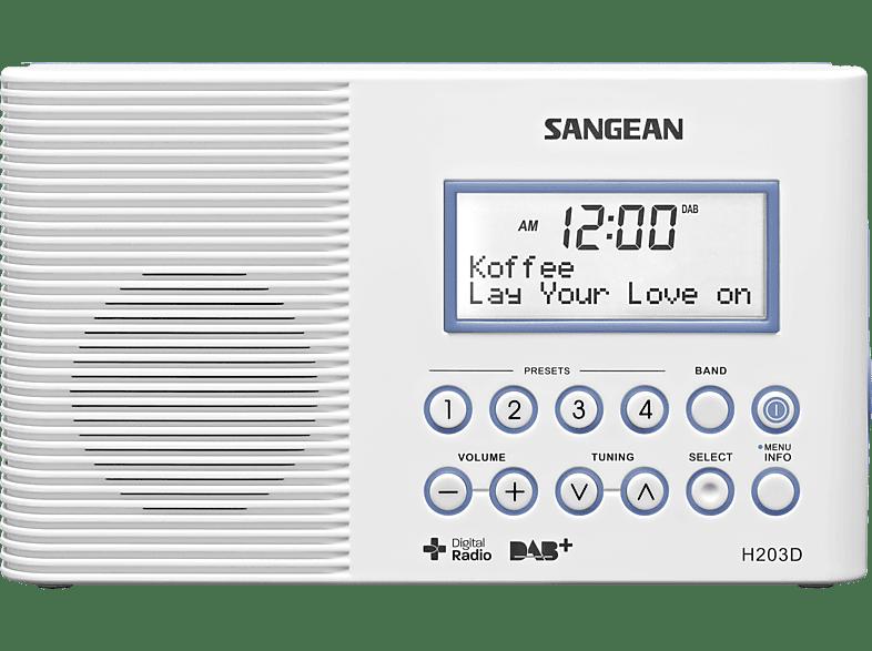 SANGEAN H-203D DAB+ Radio (UKW, DAB, DAB+, Weiß)