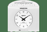 SANGEAN RCR-9 Radio-Uhr (FM, MW, FM, MW, Weiß)