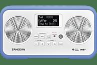 SANGEAN DPR-77 Radiorecorder (UKW, DAB+, Weiß/Blau)