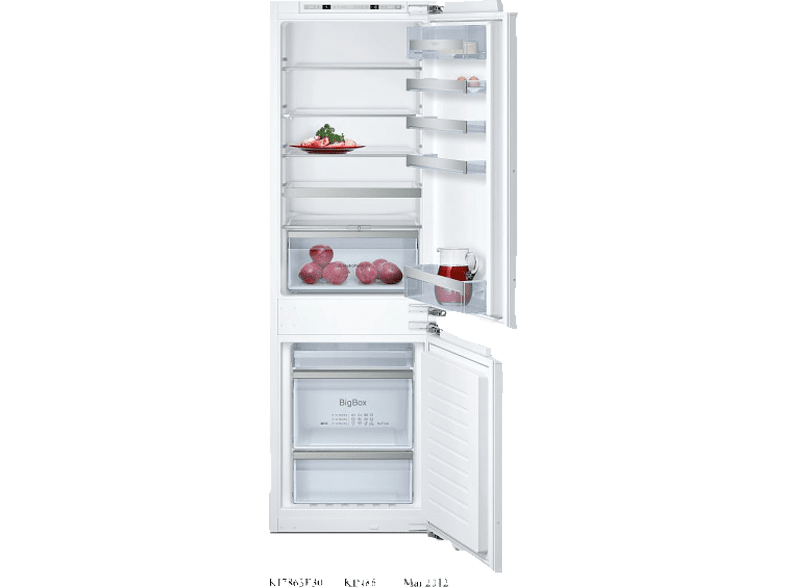 NEFF KF 735 A2 - KI7863F30 Kühlgefrierkombination (A++, 221 kWh, 1772 mm hoch, Einbaugerät)
