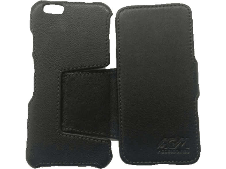 AGM 25755 , Bookcover, Apple, iPhone 6, Echtleder (Obermaterial), Schwarz