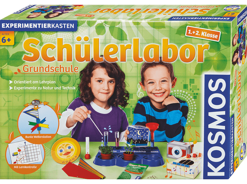 KOSMOS 634315 Schülerlabor Grundschule 1. + 2. Klasse, Mehrfarbig