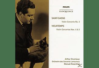 Arthur Grimaux, Manuel Rosenthal, Orchestre Des Concerts Lamoureux - Violin Concerto Vieuxtemps: Violin Concertos  - (CD)