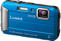 PANASONIC Lumix DMC-FT30EG-D Digitalkamera Blau, 16.1 Megapixel, 4x opt. Zoom, TFT-LCD
