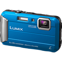 PANASONIC Lumix DMC-FT30EG-D Digitalkamera Blau, 16.1 Megapixel, 4x opt. Zoom, TFT-LCD