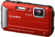 PANASONIC Lumix DMC-FT30EG-D Digitalkamera Rot, 16.1 Megapixel, 4x opt. Zoom, TFT-LCD