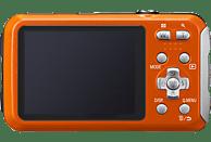 PANASONIC Lumix DMC-FT30EG-D Digitalkamera Orange, 16.1 Megapixel, 4x opt. Zoom, TFT-LCD