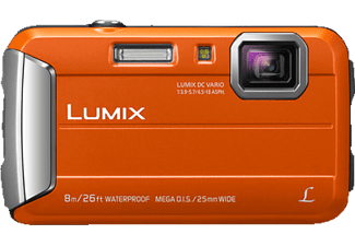 PANASONIC Lumix DMC-FT30EG-D Digitalkamera Orange, 4x opt. Zoom, TFT-LCD